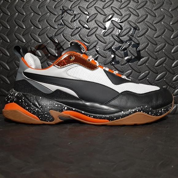 Puma Thunder Electric Black White Orange size 10.5